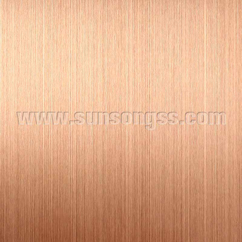 Hairline Gold Rose stainless steel sheet