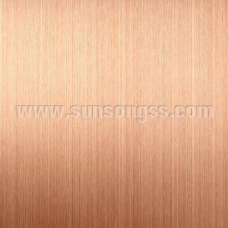Hairline Gold Rose stainless steel sheet