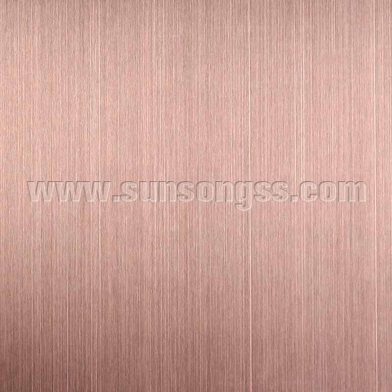 Decorative Coated Hairline Bronze Stainless Steel Sheet