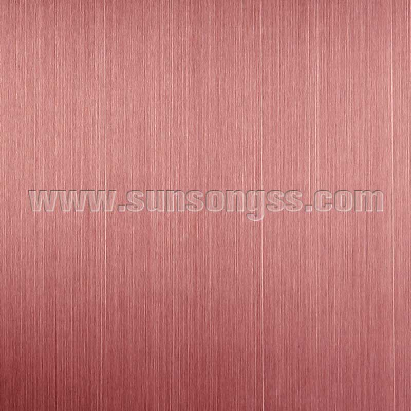 Hairline Brown stainless steel sheet