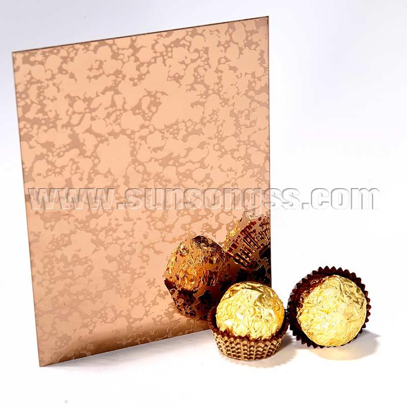 Mirror Etching Finish Bronze Decoration Sheet
