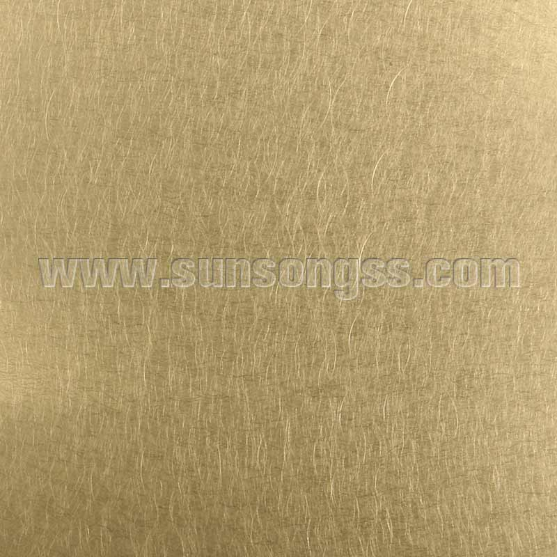 304 Gold Decorative Stainless Steel Sheet with Vibration