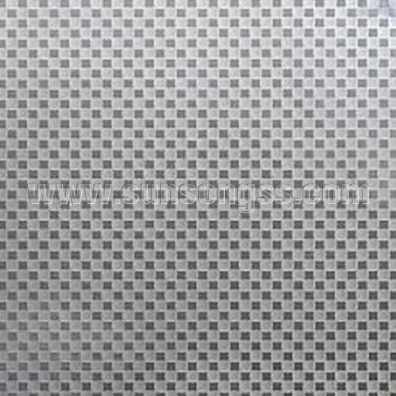 Small Panes Embossed Stainless Steel Sheet