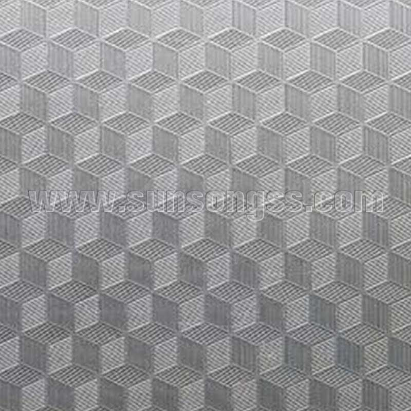Cube Pattern Stainless Steel Embossed Sheet