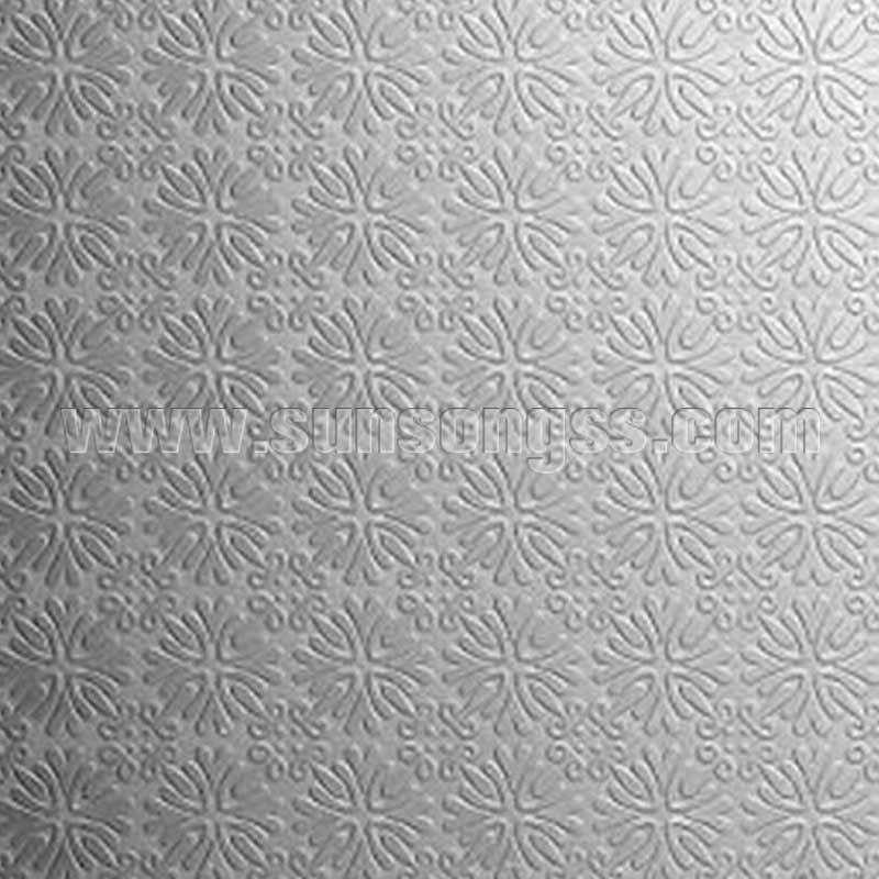 Chrysanthemums Embossed Stainless Steel Sheet