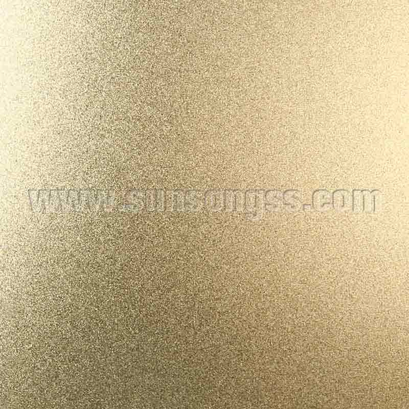 Bead Blasted Gold Stainless Steel Sheet