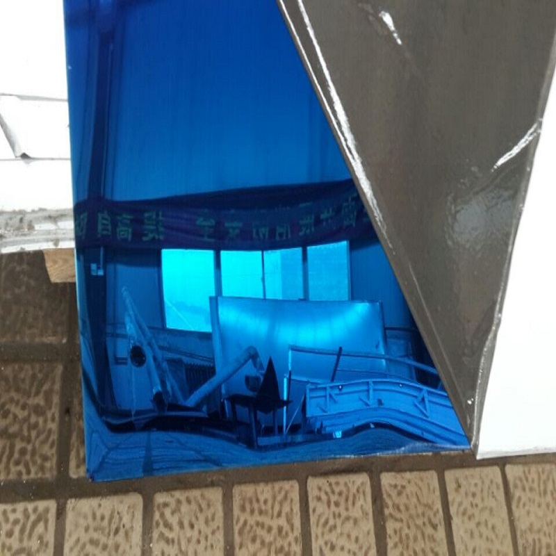 Stainless Steel Mirror Finish Blue Sheet