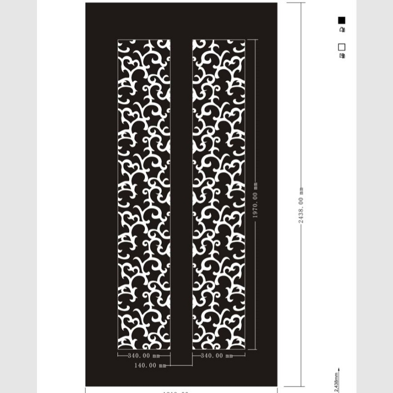 Etched pattern SS-087