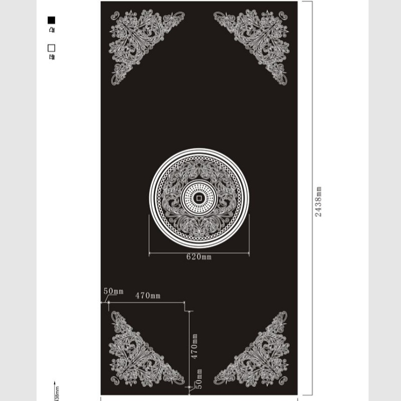 Etched pattern SS-090