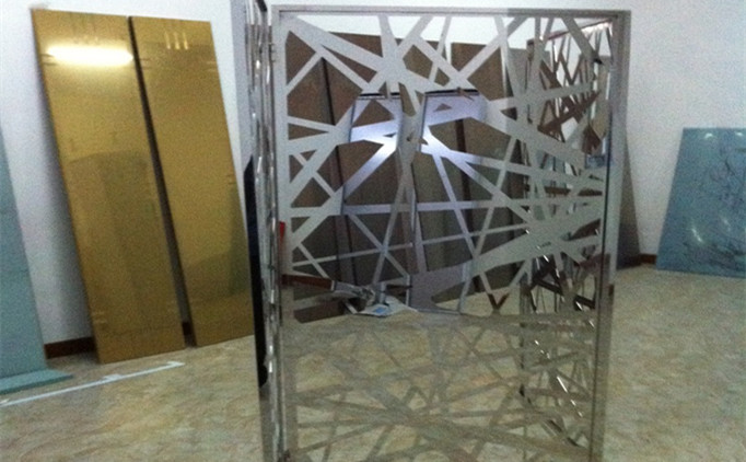 How to finish a whole laser cut stainless steel screen?